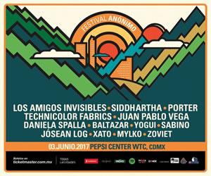 Primer edición del Festival Anónimo